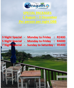 accommodation specials Wild Coast